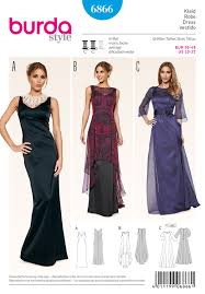 Burda Patterns Stunning Evening Dresses Burda Sewing Pattern No 48 Size 4848 Sew