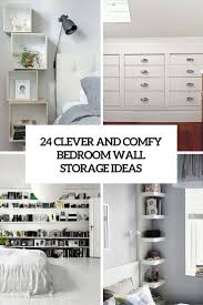 comfy and clever bedroom wall storage ideas cover