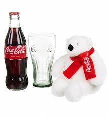Coke Polar Bear In Bottle Vending Machine Unique CocaCola Christmas Polar Bear Bottle And Contour Glass Gift Set