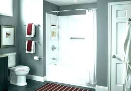 one piece tub shower ures home depot inspired archer in bath units kohler