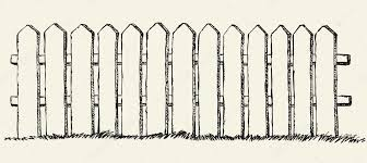picket fence drawing. 1023x457 Wooden Fence. Vector Drawing Stock © Marinka Picket Fence GetDrawings.com