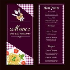 Restaurant Menu Format Free Restaurant Menu Card Designs Free Vector Download 14 527 Free