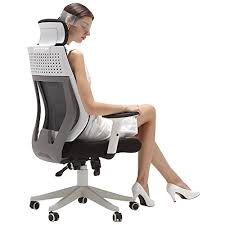 high office chair. Hbada Ergonomic Office Chair, High Back Computer White Desk Adjustable Mesh Chair