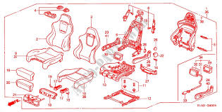 honda cars accord 2001 type r 5 sd manual upholstery front seat recaro