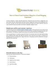 What Does Good Customer Service Mean To You How To Choose Good Furniture Shops For A Good Shopping