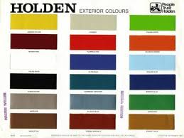Pin By Sam Princi On Holden Hq Colours Paint Charts Paint