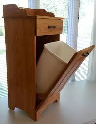 ... Wooden Trash Cans For Kitchen Wooden Trash Can Cabinet Nice Wooden  Kitchen Trash Bin ...