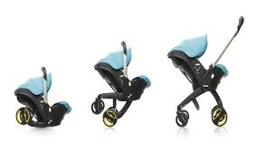 2 in 1 car seat stroller with fully integrated wheels