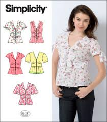 Simplicity Blouse Patterns Fascinating Simplicity 48 Misses Blouses
