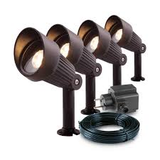 Garden Lights 12v Grondspot Focus Set Van 4