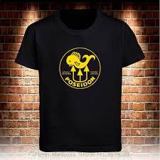 Tops Tees Printed Men T Shirt Poseidon Logo Scuba Diver Logo