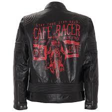 king kerosin biker leather jacket cafe racer black
