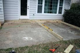 very low deck over concrete deck over concrete elegant laying deck joists precast concrete deck pier