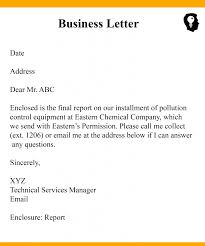 Business Correspondence Letters Examples Way To Write Business Letter With Example Sample Format