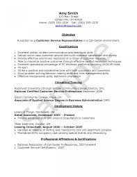 Customer Service Resume Skills Resume Templates Work At Home Agent Examples Objective For 93
