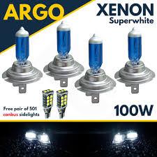 4 X H7 100w Super White Xenon Upgrade Headlight Bulbs Set 499 12v Fulldipped