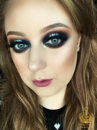 new year s eve glam navy and silver spotlight eye makeup