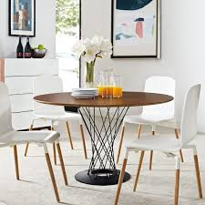 it table modway cyclone round wood top dining table chairs