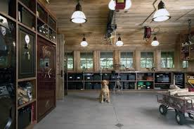 Rustic Wood Garage Storage Ideas With Safe