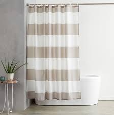Amazon.com: AmazonBasics Shower Curtain with Hooks (Treated to ...