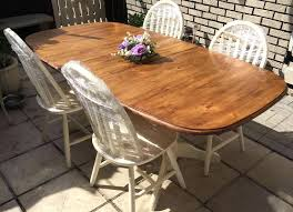 cky antique pine extendable dining table and 6 chairs farmhouse shabby chic solid refurbished seats round