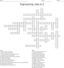 Designer Crossword Engineering Jobs A Z Crossword Wordmint