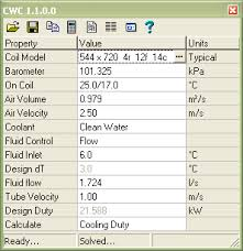 Evaporator Coil Sizing Chart Hvac Coil Simulation Software