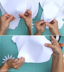 shape petals for the giant paper rose print