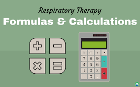 Ideal Body Weight Tidal Volume Chart Respiratory Therapy Formulas And Calculations Practice