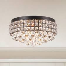 winning flush mount crystal pendant swarovski chandelier