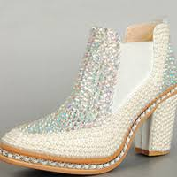 best chunky heel ivory wedding shoes to buy buy new chunky heel Cheap Wedding Shoe Boots cheap wedding pearl wedding shoes best boots medium(b,m) rhinestone chunky heels Silver Wedding Shoes