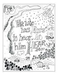 Parable Of The Talents Coloring Page Parable Of The Rich Fool