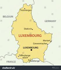 grand duchy luxembourg vector map stock vector
