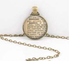 justice law definition french dictionary word pendant necklace or