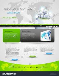 Business Homepage Design Web Page Template Design Business Homepage Stock Vector