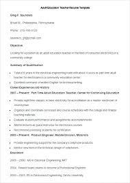 English Resume Template Resume Sample Sample Esl Teacher Resume