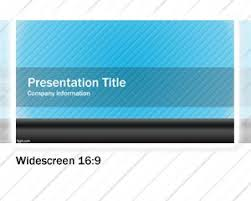 16 9 Template Free Blue Widescreen Powerpoint Template