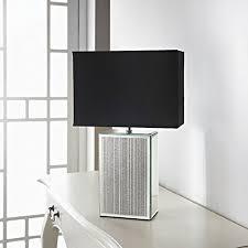 mirror lamp. square glitter mirror table lamp - black o