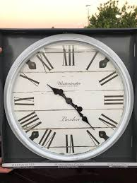 westminster clock company large wall clock