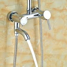 chrome finish bathtub shower faucet mixer tap head from tub handheld covers spout round 8 rain