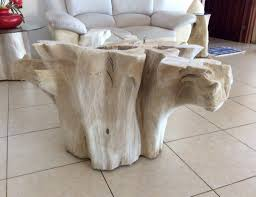 Image of: Tree Trunk Coffee Table Paint