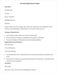 Call Center Manager Sample Resume Podarki Co