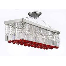 house of hampton modern crystal rectangular chandelier with colour regarding attractive home crystal rectangular chandelier remodel
