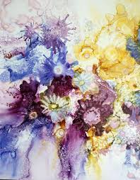 bouquet of flowers painting by roza