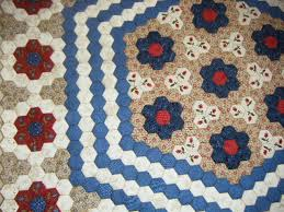 My 'Dear Prudence' Hexagon Quilt - Gum Valley Patchwork & With the original quilt measuring 72
