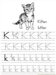 Small Picture Alphabet Abc Letter K Kitten Coloring Pages 7 Com Coloring Page
