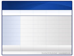 blank table chart template. bestsellerbookdb · html table template modern design psd and psdgraphics blank chart 5