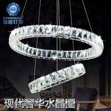 get ations simple and stylish modern living room bedroom dining led crystal chandelier led ring large crystal chandelier