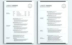 2 Page Resume Template Fascinating 48 Page Resume Template Free Unique The Best Amp Templates