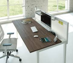 white walnut office furniture. Single CUBE Desk With Sliding Top And Accrylic Screen Tool Rail. Walnut Top, White Legs. Monitor Arms Accessories. Office Furniture I
